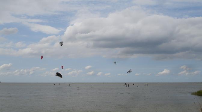 Heerlijk kiten of surfen in ondiep water