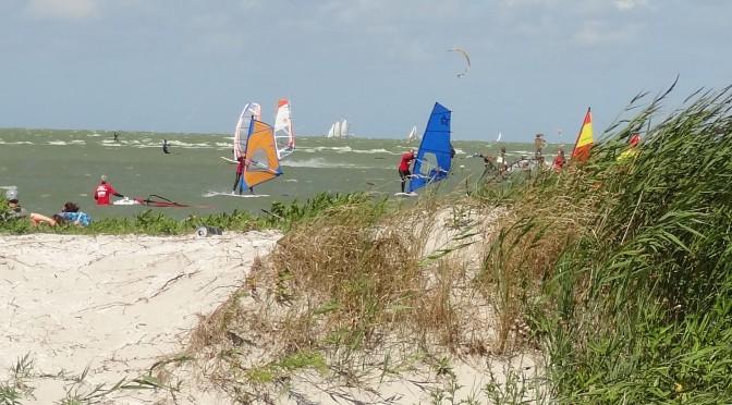 Heerlijk windsurfen, kiten, suppen en zeilen vanuit het strand van Workum
